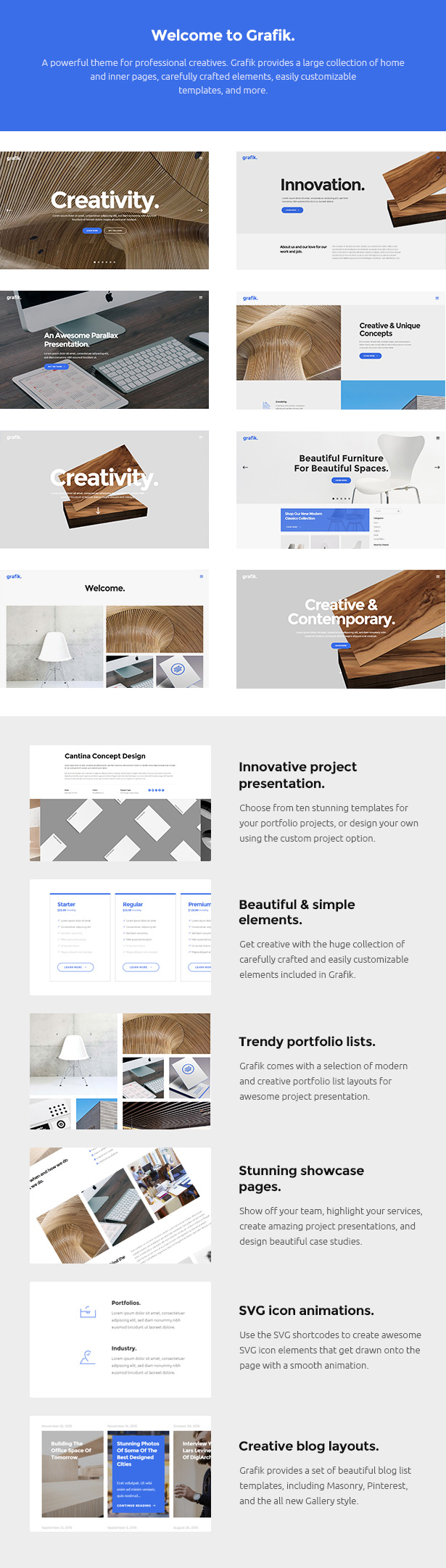 Grafik - Architecture & Design Theme